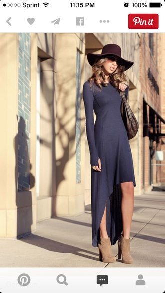 dress maxi dress sunglasses floppy hat booties shoes fierce hat shoes