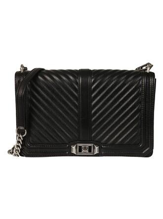 love quilted bag shoulder bag black