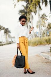 pinksole,blogger,sunglasses,jewels,shirt,pants,shoes,bag