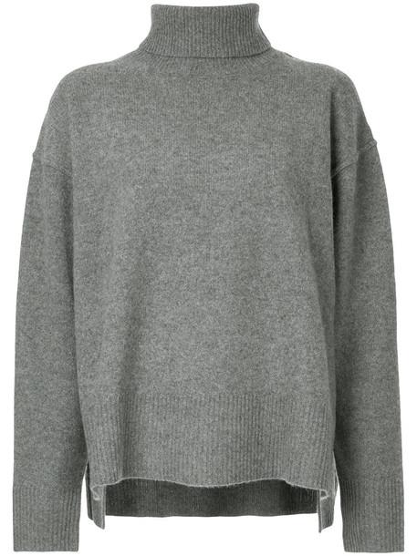 Le Ciel Bleu sweater oversized knit sweater oversized women wool knit grey