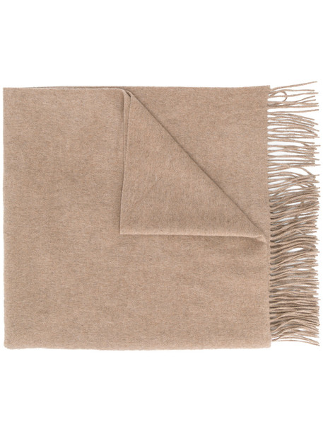 Pringle Of Scotland fringed scarf - Brown