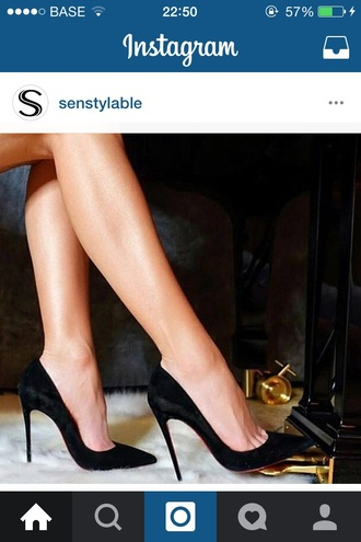 shoes heels high heels black heels pumps