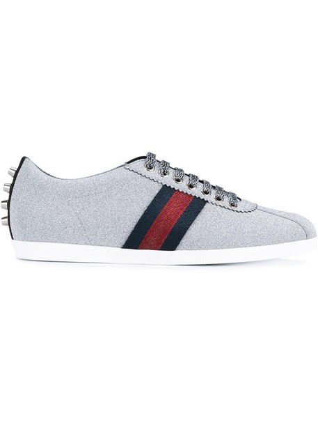 gucci glitter women sneakers leather cotton grey metallic shoes