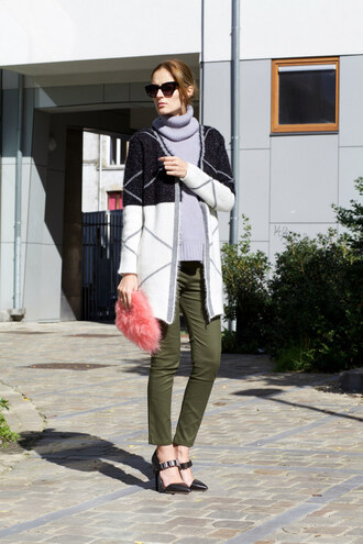 from brussels with love blogger sweater cardigan pants shoes bag
