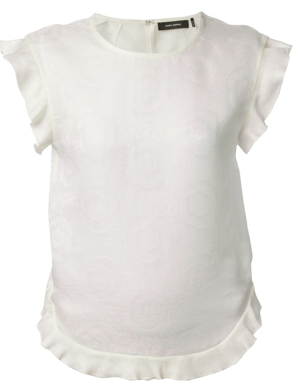 Isabel Marant Ruffle Trim Top -  - Farfetch.com