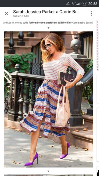 skirt celebrity style carrie bradshaw sarah jessica parker