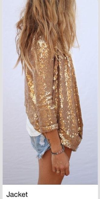jacket gold sequins