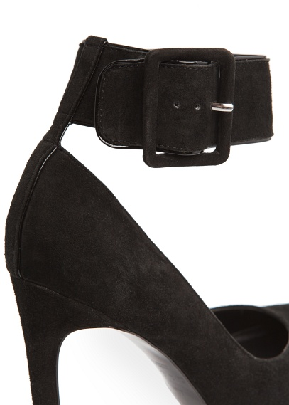 MANGO - Shoes - Ankle strap suede stiletto shoes