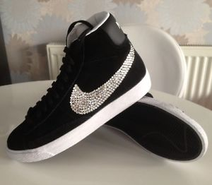 """Brand New In"" Crystal Customised Genuine ""NIKE"" Blazers, Black! 