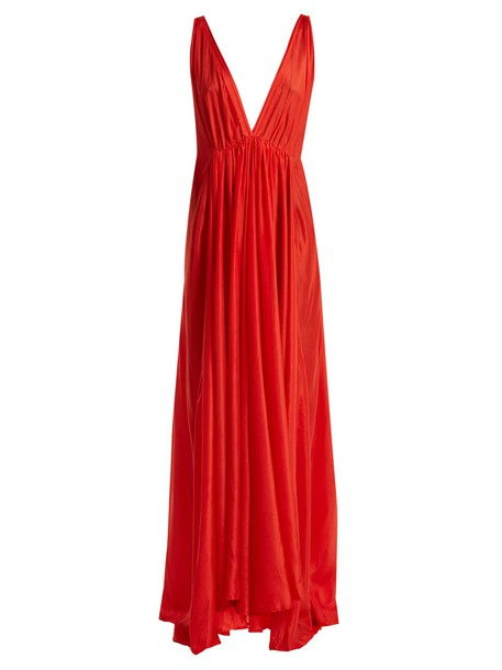 KALITA dress maxi dress maxi silk red