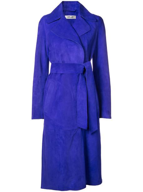 Dvf Diane Von Furstenberg coat trench coat women blue