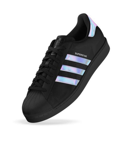 shoes black holographic holographic shoes adidas. Black Bedroom Furniture Sets. Home Design Ideas