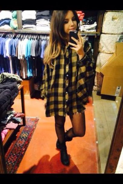 Black Yellow Check Flannel C Shirt M Euc Only Worn A Few Times And Checkered Lumberjack Style