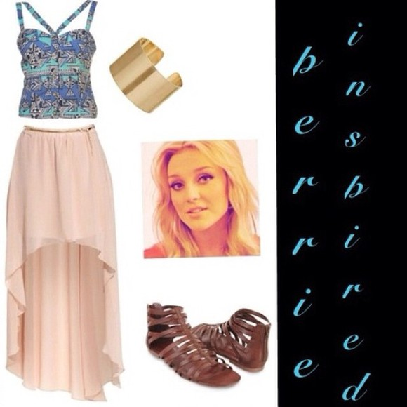 bracelets tank top perrie edwards little mix