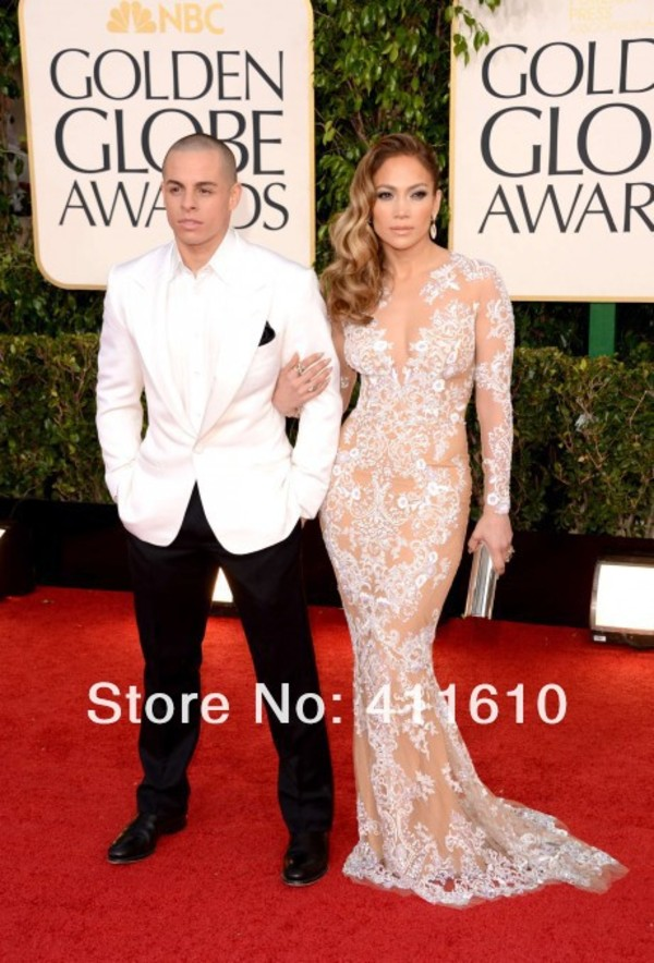 dress jennifer lopez golden globe awards celebrity dress jennifer lopez  dress