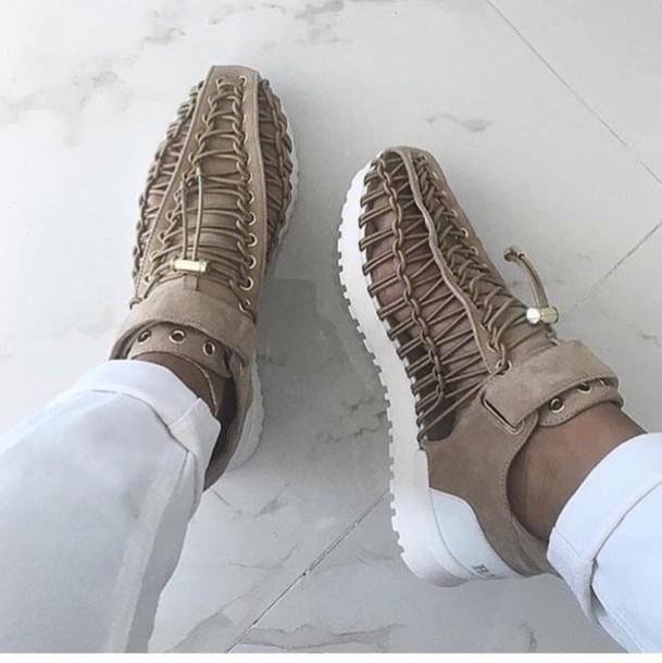 shoes, balmain, beige, sneakers