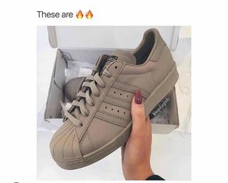 shoes beige adidas superstars