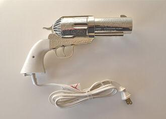 jewels hair hair dryer electirc vintage silver white cord metal gun heat