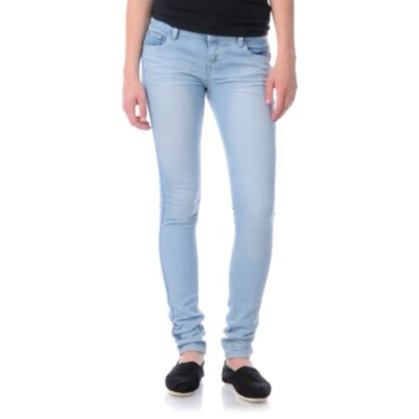 jeans jeggings acid wash light blue