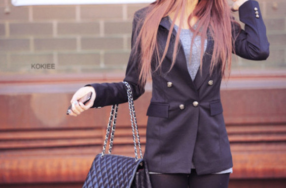 blue jacket jacket blazer blue formal casual navy blue