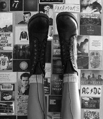 shoes boots combat boots rock