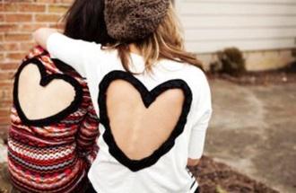 heart open back cute beanie sweater heart sweater