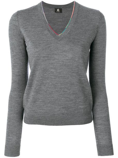 PS By Paul Smith jumper women wool grey sweater