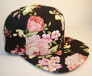 127 floral flower hawaii snapback hat baseball cap white pink large flower
