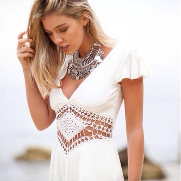 dress vintage dress white dress
