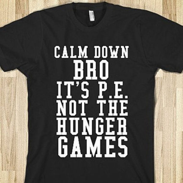 T-shirt: black and white, printed shirt, cool shirts, the hunger ...