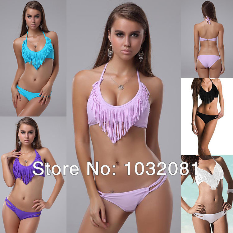 Brazilian Biquinis women sexy fringe tassel Bikini vs beachwear swimsuit swimwear bathing suit com bojo Franja Verao 2014 T22 P-in Bikinis Set from Apparel & Accessories on Aliexpress.com