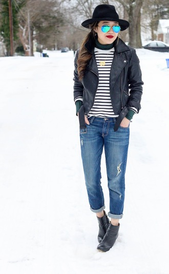 gracefullee made blogger shirt top jacket jeans shoes jewels make-up sunglasses
