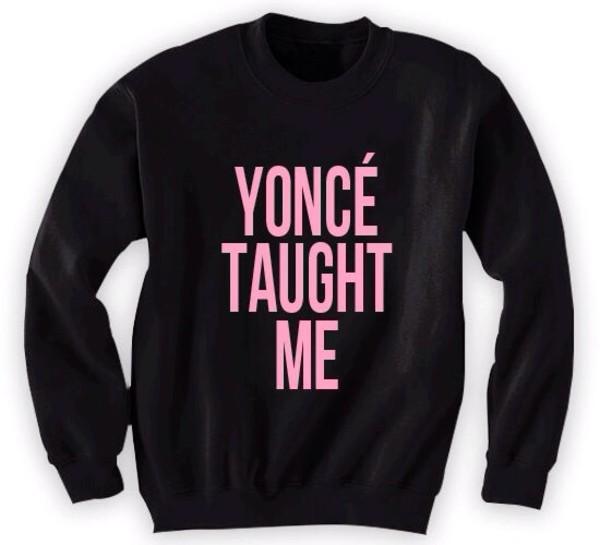 shirt yonce beyonce sweatshirt crewneck black pink