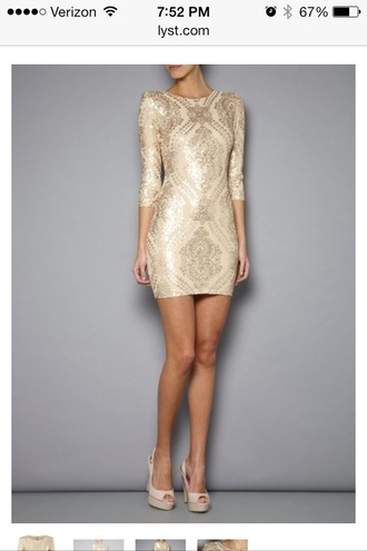 dress gold three-quarter sleeves trikini
