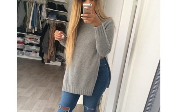 sweater grey sweater style