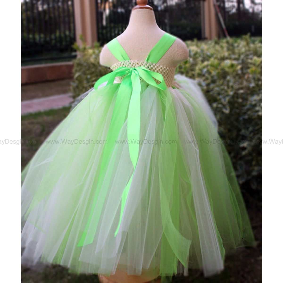 Green Flower Girl Dress Party dresses tutu dress baby dress ...
