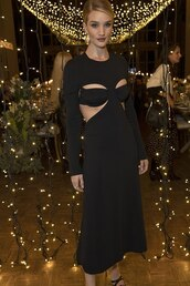 dress,cut-out,rosie huntington-whiteley,model,black dress