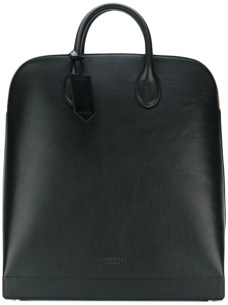 Calvin Klein 205W39nyc - deep logo embossed tote - women - Calf Leather - One Size, Black, Calf Leather
