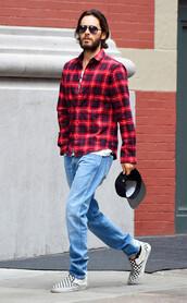 shirt,plaid,plaid shirt,mens shirt,menswear,mens shoes,jared leto
