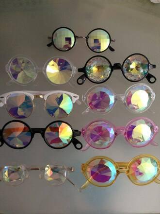 sunglasses pastal goth cosmic