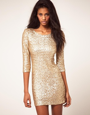 Tfnc sequin dress with long sleeves at asos