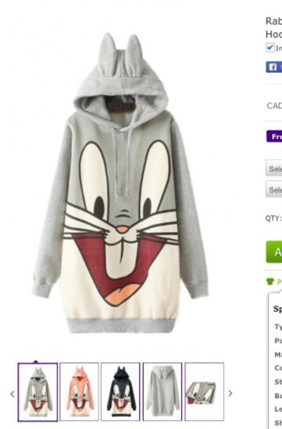 sweater jumper bunny bugs bunny looney toons bunny