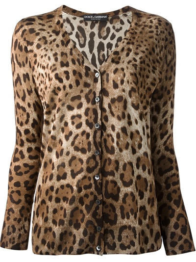 Dolce & Gabbana  Leopard Print Cardigan - Julian Fashion - Farfetch.com