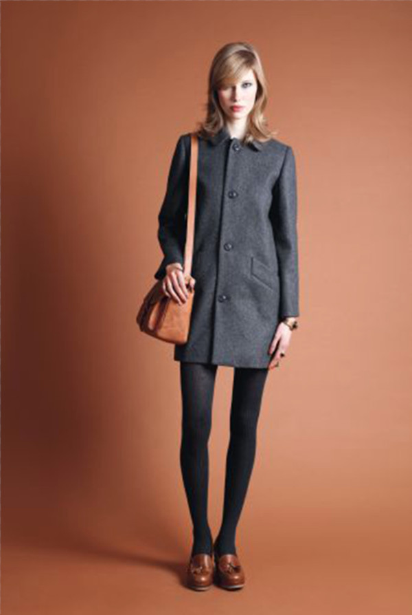 coat apc fashion lookbook shoes bag