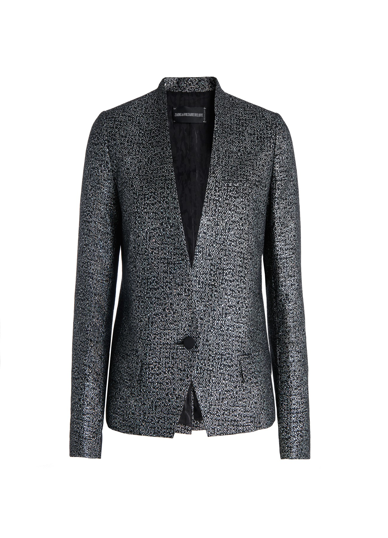 jacket for  woman vegas pixel deluxe silver-Zadig&Voltaire
