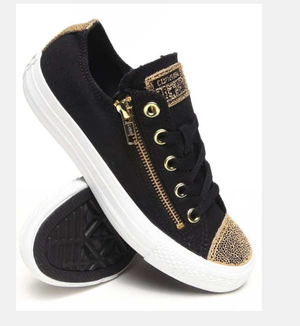 Converse Women Black Chuck Taylor Sparkle Toe Cap All