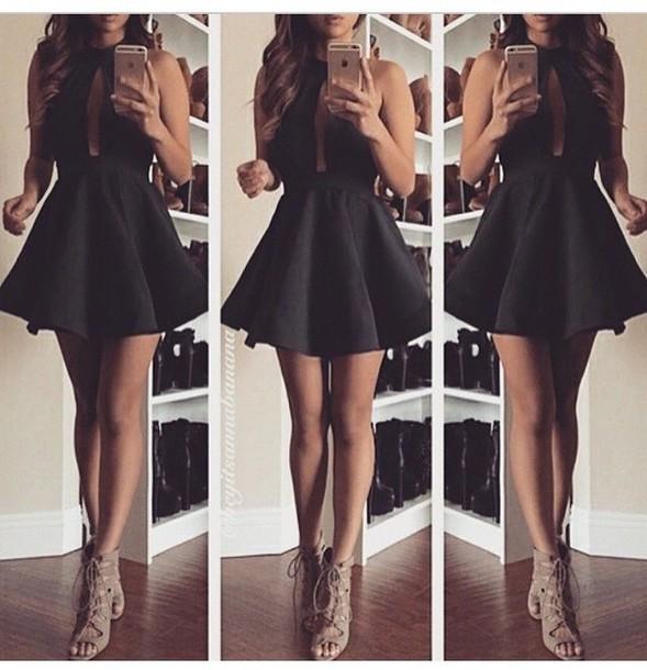 Plum Dress Black Shoes Womans Life