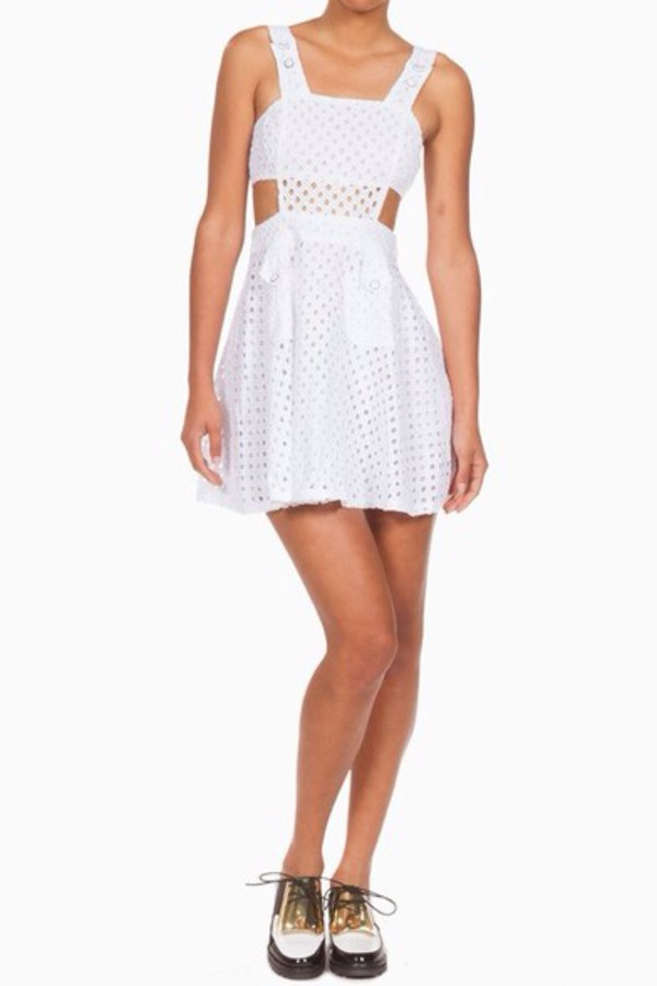 clothes white dress white lace dress lace skater dress