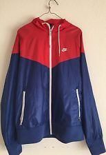 e63a53e9ae Nike Windbreaker Retro Track Jacket Hoodie Blue Red White Sz L ...