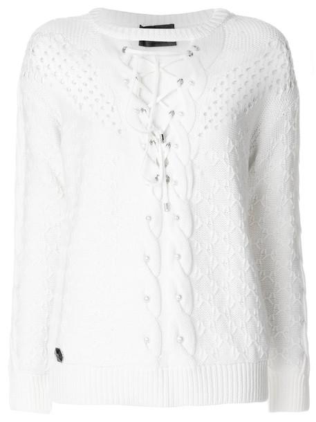 PHILIPP PLEIN sweater women white